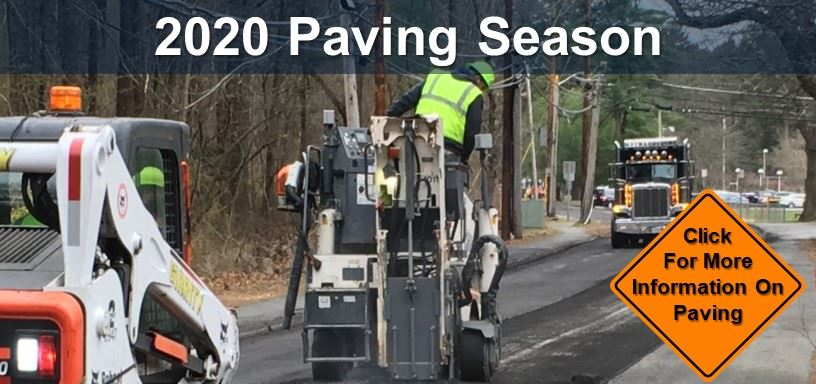 2020 Paving Season. Click to view the Street List and map.