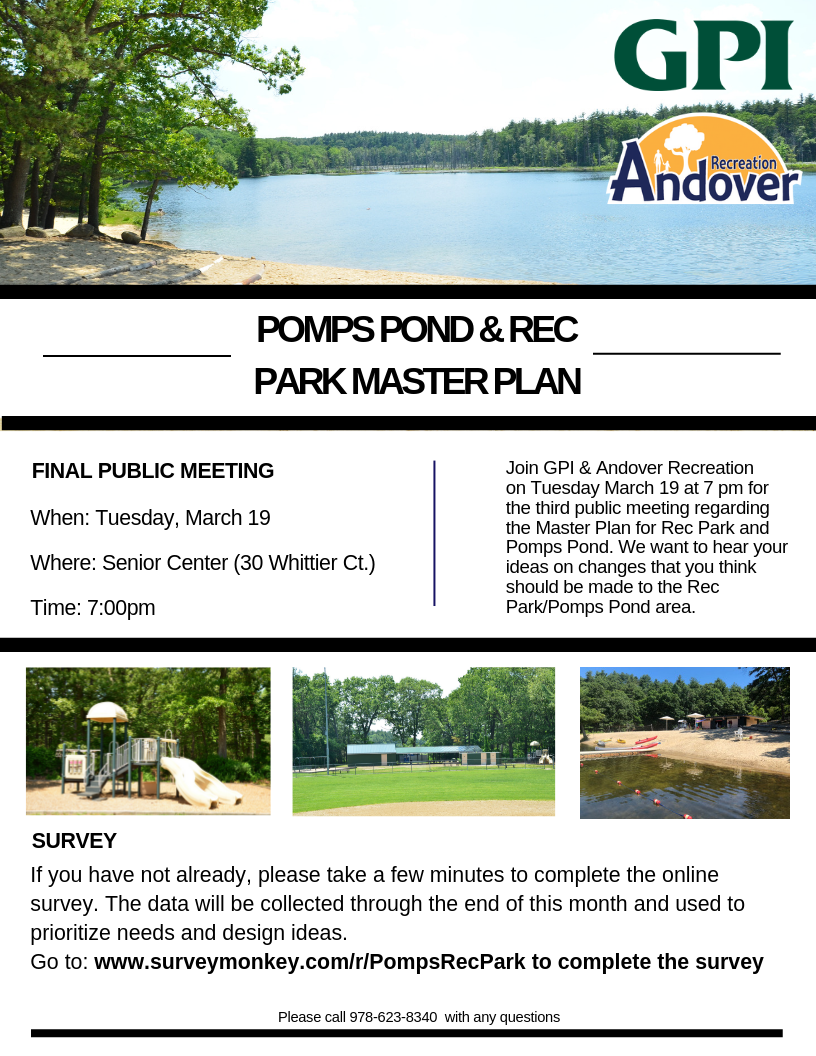 Rec Park/Pomps Pond Public Meeting Flyer