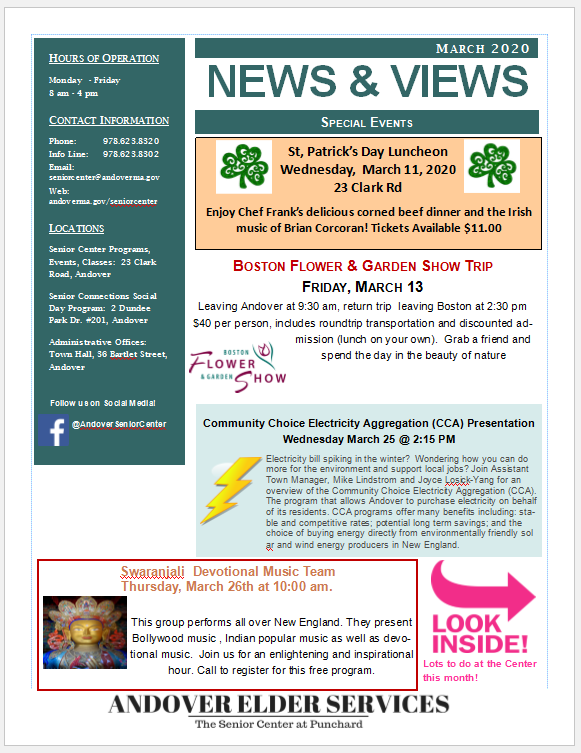 es march newsletter